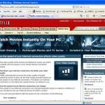Netflix WatchNow in IE