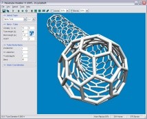 buckyball generated with Nanotube Modeler