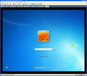 Screen capture: Windows 7 running under VMWare.