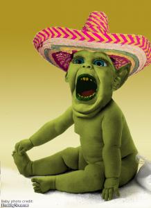 Mexican alien baby